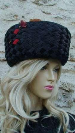 palarie vintage neagra-profil