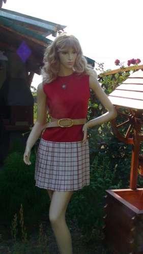 rochie plisata rosie
