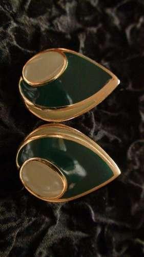 cercei metalici verzi vintage